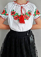 Вышиванка для девочки короткий рукав