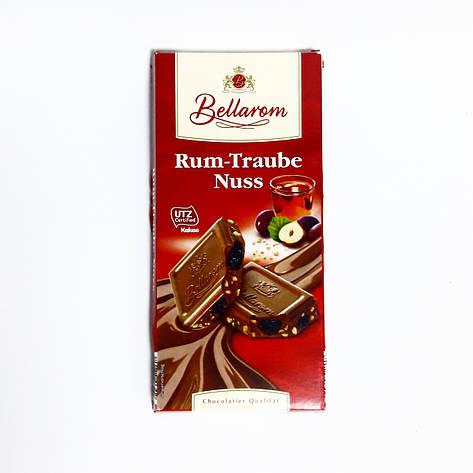 Шоколад BellaromRum Traube Nuss молочный изюм+ром+орех 200г, фото 2