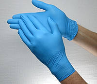 Перчатки нитриловые неопудренные blue L