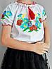 Детские вышиванки для девочек с коротким рукавом