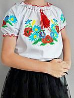 Детские вышиванки для девочек с коротким рукавом , фото 1
