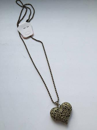 Кулон сердце в винтажном стиле, фото 2