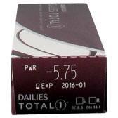 Однодневные контактные  линзы Dailies Total 1