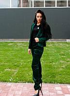 Женский нарядный костюм из бархата x-ta61103