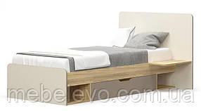 Кровать Лами 900  950х1200х2032мм блеквуд + капучино + шампань   Мебель-Сервис