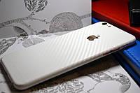 "Виниловая наклейка ""Белый карбон"" Iphone 6 PLUS / 6S PLUS (0,12 mm)"