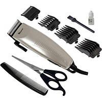Машинка для стрижки волос Domotec MS-4600 триммер 4 насадки