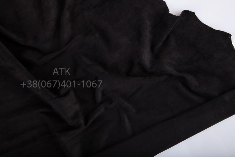Замша одежная черная