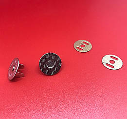 Кнопка магнит для портмоне. Цвет никель. 19мм