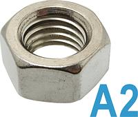 Гайка шестигранная М10 нержавеющая сталь А2