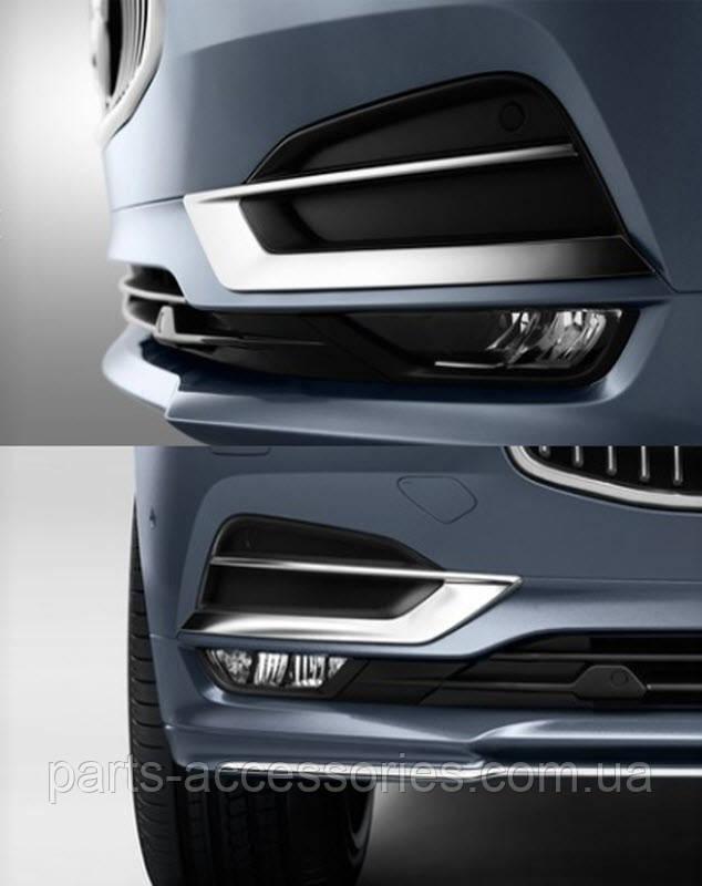 Volvo S90 V90 2016+ декоративные накладки на передний бампер Новые Оригинальные