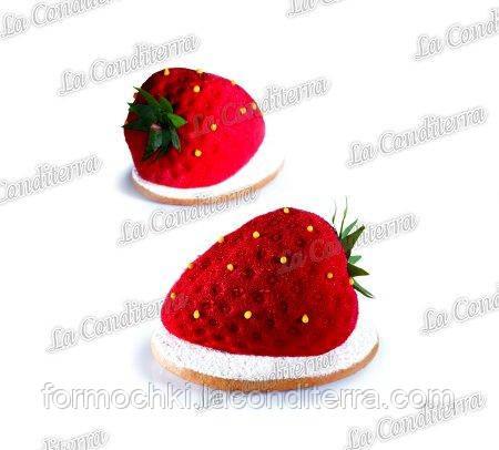 Силиконовая форма для десертов PAVONI PX4333 Strawberry