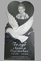 Памятник детский из гранита габбро
