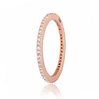 Серебряное кольцо позолоченное с фианитом К3Ф/242 - 17,4