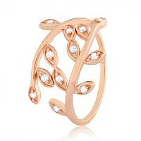 Серебряное кольцо позолоченное с фианитом К3Ф/369 - 19