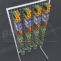 Сетка торговая для семян 1800х845 ячейка 5х5см. Стойка торговая для семян.