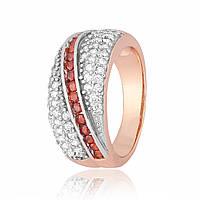 Серебряное кольцо позолоченное с фианитом К3ФГ/363 - 18,4
