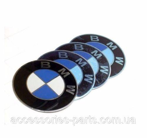 Эмблема на заглушку диска BMW на самоклеющейся основе (70 мм) Новая Оригинальная