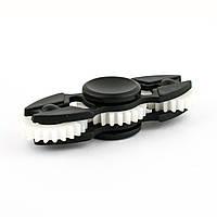 Спиннер пластиковый с тремя шестеренками черный матовый Spinner plast 013-R