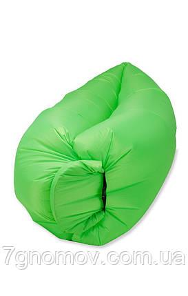 Ламзак, надувной шезлонг-лежак Standart зеленый неон, фото 2