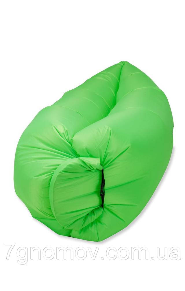 Ламзак, надувной шезлонг-лежак Standart зеленый неон