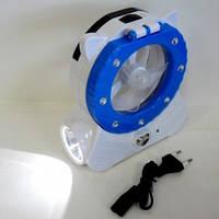 Вентилятор настольный с LED светильником аккумуляторный., фото 1