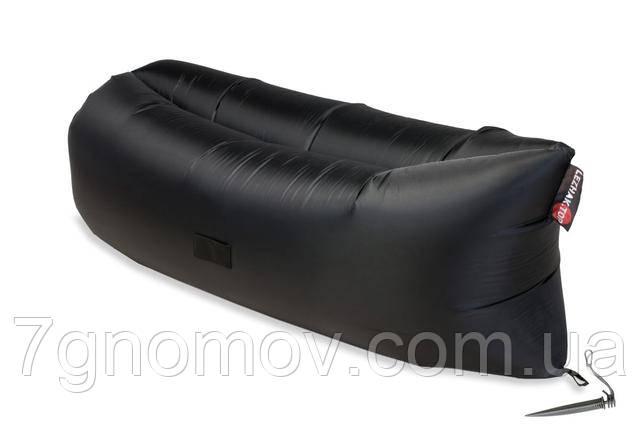 Ламзак, надувной шезлонг-лежак Premium черный