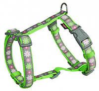 Шлея Trixie Modern Art H-Harness Blooms для собак нейлоновая, 30-40 см