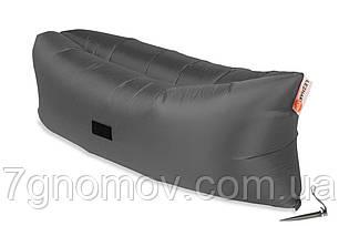 Ламзак, надувной шезлонг-лежак Standart серый, фото 2