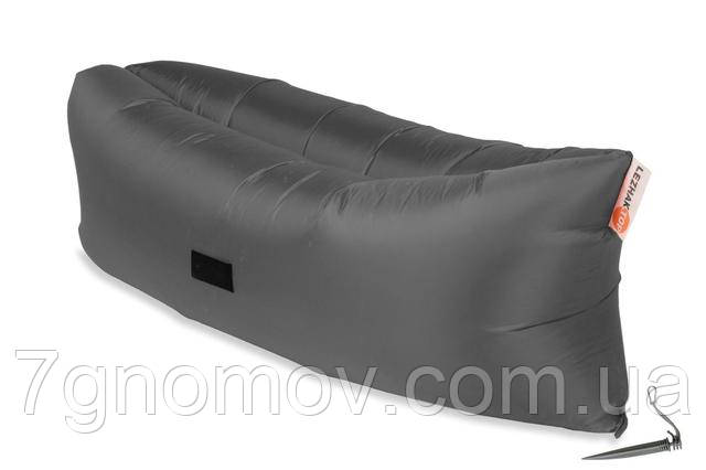 Ламзак, надувной шезлонг-лежак Standart серый
