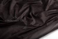 Замша свиная темно-коричневый 37-005