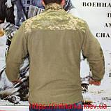 Тактическая флисовая кофта под погон укр. пиксель, фото 4