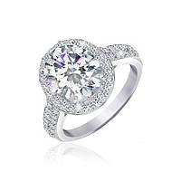 Серебряное кольцо с фианитом КК2Ф/371 - 19,0