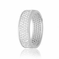 Серебряное кольцо с фианитом КК2Ф/373 - 19