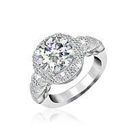 Серебряное кольцо с фианитом КК2Ф/388 - 19,0
