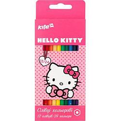 Карандаши цветные двусторонние Hello Kitty, 12 шт. / 24 цвета HK17-054