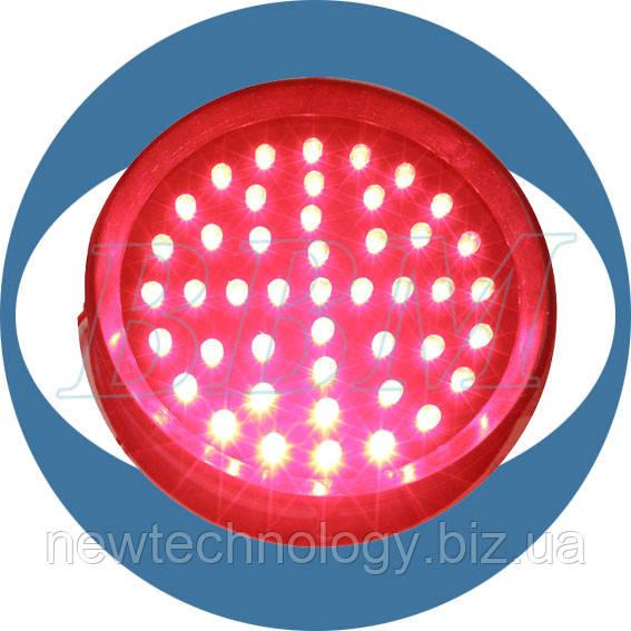 Модуль светодиодный безлинзовый, 230В, 100 мм, красный
