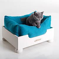 Cat Harbor White - Убежище (деревянная кровать для кота)