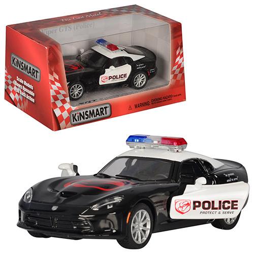 """Машинка Kinsmart KT 5363 WP """"2013 SRT Viper GTS (Police)"""", 12,5 см (Y)"""