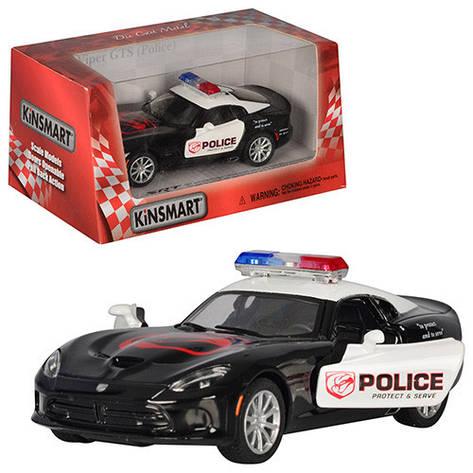 """Машинка Kinsmart KT 5363 WP """"2013 SRT Viper GTS (Police)"""", 12,5 см (Y), фото 2"""