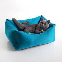 Cat Tetra Teal  - Тетра (мягкий квадратный лежак для кота)