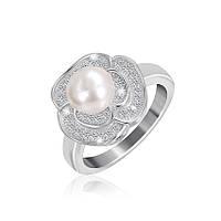Серебряное кольцо с жемчугом КК2ФЖ/418 - 18,7