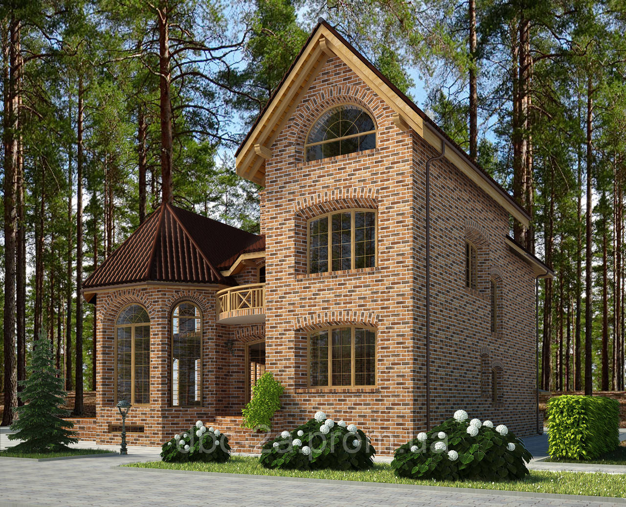 Проекты домов, Дом клинкер 400м2