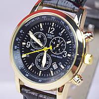Мужские наручные часы с календарем (черный циферблат), фото 1