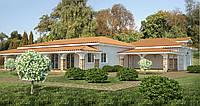 Проект дома, Дом средиземноморский 323м2