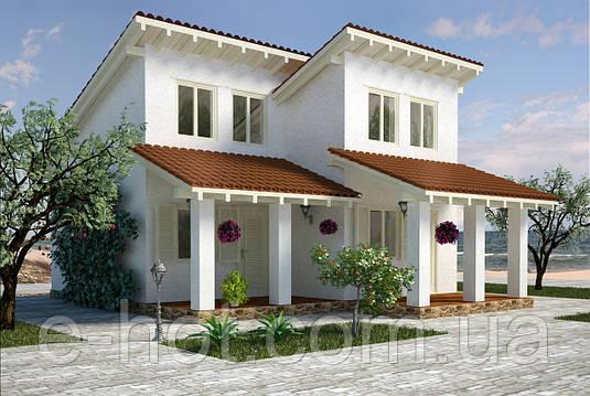 Проекты домов, Дом у моря 120м2