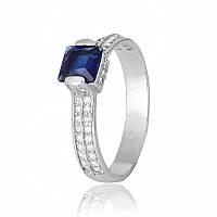 Серебряное кольцо с фианитом КК2ФС/389 - 17,4