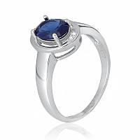 Серебряное кольцо с фианитом КК2ФС/392 - 17,4