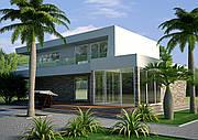 Проект дома, Дом хай-тек 210,4м2