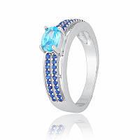 Серебряное кольцо с фианитом КК2ФСТ/339 - 17,4